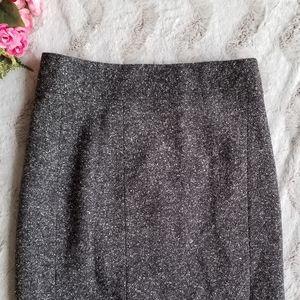 🌸Banana Republic Mad Men Wool Silk Gray Skirt 4